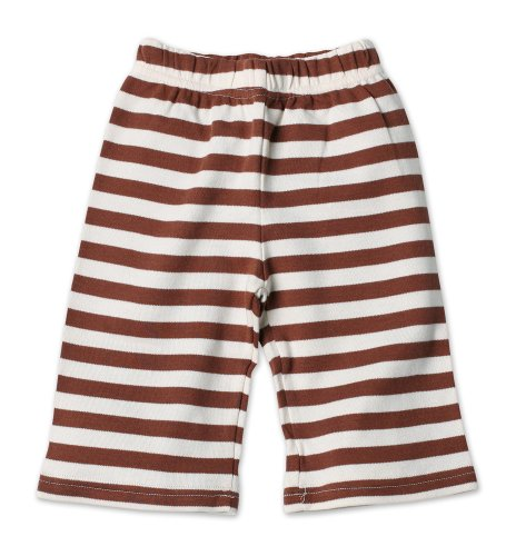 Zutano Primary Stripe Pant, Chocolate/Cream, 18 Months (12-18 months)