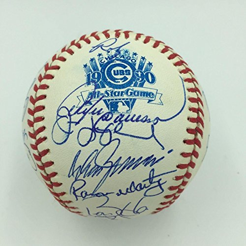 1990 All Star Game Wrigley Field Team Signed Baseball Barry Bonds Ryne Sandberg - Autographed Baseballs 1990 Mlb All Star Game