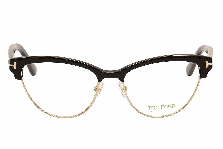 Amazon.com: Tom Ford Eyeglasses Frame TF5365 005, Black/Gold Frame ...