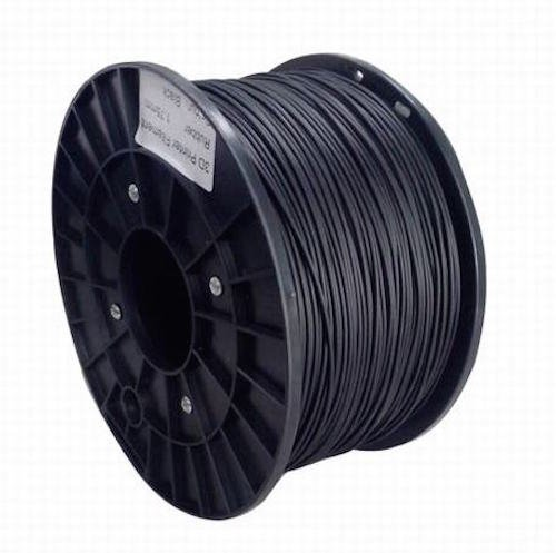 Kaiserlich24 3D Filament PLA & ABS 1.75mm / 3mm Printer Spule Trommel Patrone 1kg (Schwarz, PLA 1.75mm)