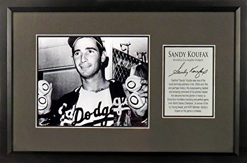 "Brooklyn/LA Dodgers Sandy Koufax ""4 No-Hitters"" 8x10 Photo Display (SGA Signature Series) Framed (Koufax Signed Framed Sandy)"