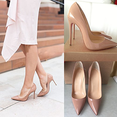 High Leather 14 Stiletto red On Us S0le Heels Pumps Chris Nude 5 Pointy Womens Slip 12cm bottom Party Toe t Dress Shoes 8paxWqIwvS