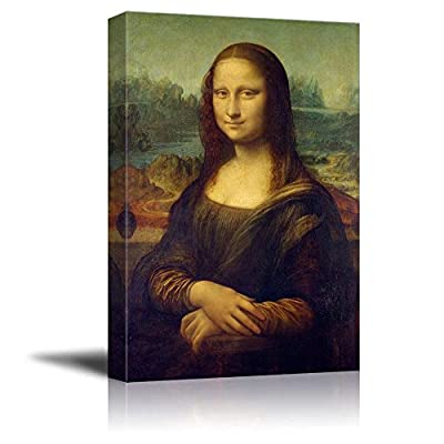 Mona Lisa by Da Vinci Famous Painting - Canvas Art Wall Art - 24