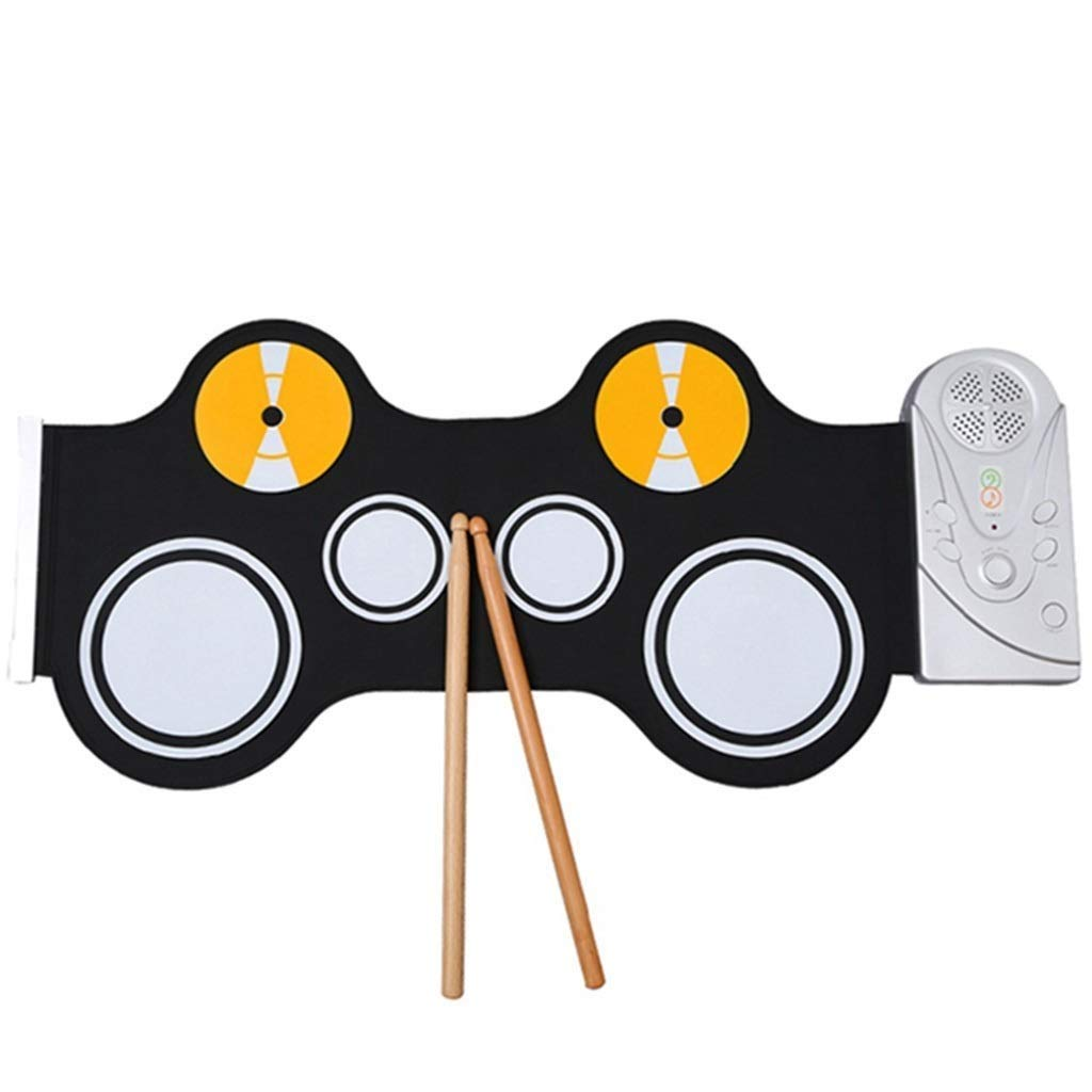 JLL Portable Kid's Roll Up Drum, Educational Electronic Drum Set w/ 7 Different Drum Pads, Recording Feature, Headphone Jack, Build-in Speaker, Educational Demos for Toddlers & Kids by JLL