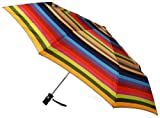 Totes Signature SuperDome Auto Open/Close Umbrella, Large Gradated Stripe, One Size