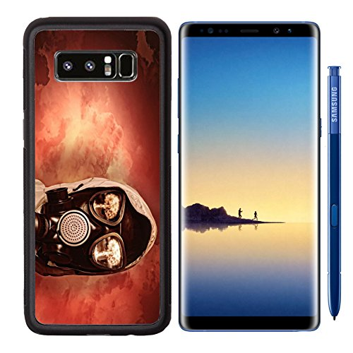 MSD Samsung Galaxy Note 8 Aluminum Backplate Bumper Snap Case IMAGE ID 20057046 Image of man in gas mask Ecology concept