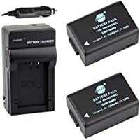 DSTE 2x DMW-BMB9 DMW-BMB9E Battery + DC108 Travel and Car Charger Adapter for Panasonic Lumix DMC-FZ40 FZ45 FZ47 FZ48 FZ60 FZ62 FZ70 FZ72 FZ80 FZ100 FZ150 Leica V-Lux2 V-Lux3 Camera as BP-DC9