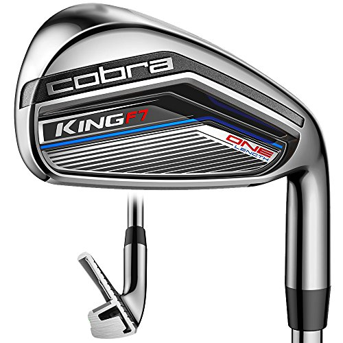 Cobra IR KING F7 CL BK Steel Regular 5-GW Golf Iron Set,...