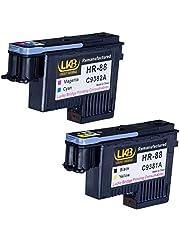 Lucky Bridge HP88 skrivhuvud 2PK C9381A C9382A renoverad kompatibel för HP Officejet med HP Office jet K5400 L7550 L7580 L7590 L7650 L7680 L7750 L7780 L7790 skrivare