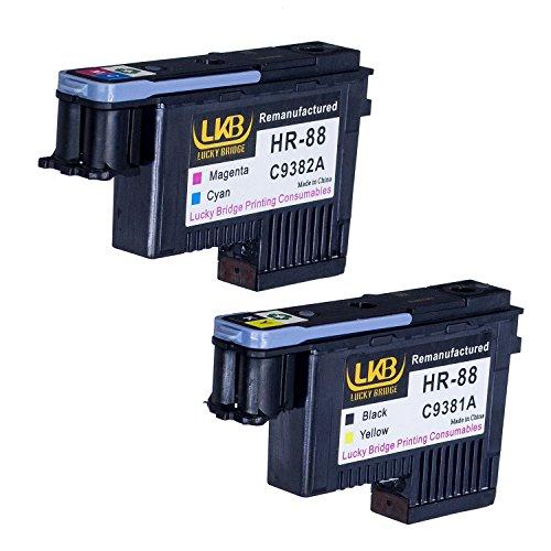 C9381a Printhead - LKB HP88 Printhead 2PK C9381A C9382A Remanufactured Compatible for HP Officejet with Pro K5400 L7550 L7580 L7590 L7650 L7680 L7750 L7780 L7790 Printer(1BY, 1MC)-US