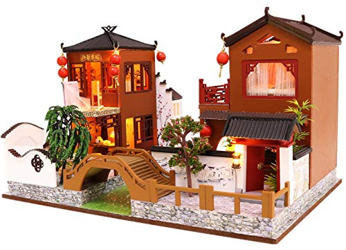 Kisoy Romantic and Cute Dollhouse Miniature DIY House Kit Creative Room Perfect DIY Gift for Friends, Lovers and Families (Poems and Dreams) (Lovers And Best Friends Poems)