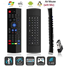 iFixe MX3 Remote Controller Multifunction Two Sides 2.4Ghz Mini Wireless Keyboard & Infrared & Fly Air Mouse Cursor 3-Gyro + 3-Gsensor With Mini USB Wireless Receiver For Android Box Smart TV Box Google Box IPTV HTPC Mini PC Windows iOS MAC Linux PS3 Xbox 360
