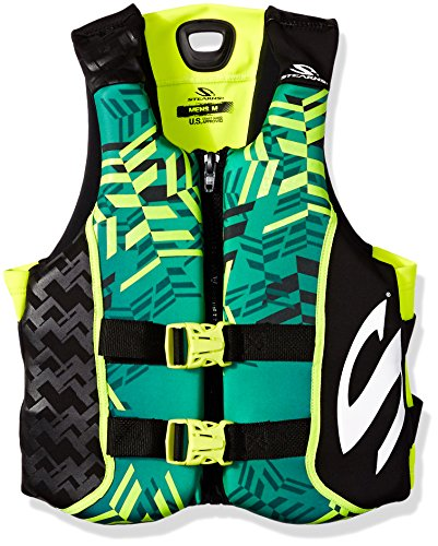 (Stearns Men's V1 Series Hydroprene Life Jacket, Green/Yellow, Large)