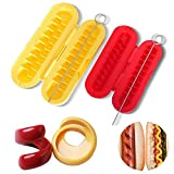 Spiral Hot Dog Slicer Sausage Cutter Kitchen Gadgets BBQ Grilling Pack of 4