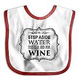 JOYJUN Step Aside Water This Is A Job For Wine Teething Bibs Comfort Waterproof Baby Bib Detachable
