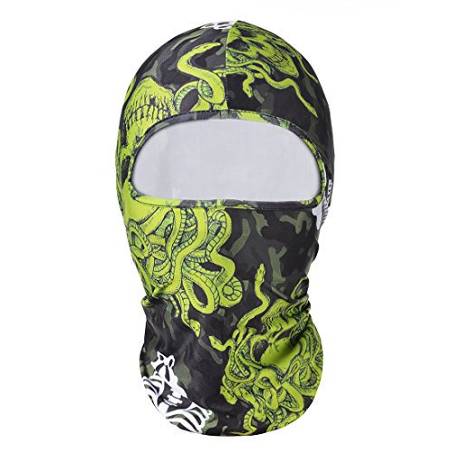 Hisea Balaclava Ski Full Face Mask - Tactical Balaclava Hood for Women Men Kids with Quick Dry Fabric for Cycling, Riding, Training, Skiing, Snowboarding, Motorcycling & Winter Sports, (Day Of The Dead Mask For Sale)