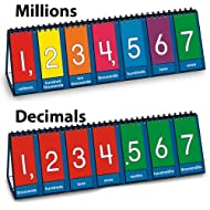 "Nasco TB25012T Place Value to Millions/Decimal Tabletop Demo Flip Chart, 8 x 23-1/2"", Grades 3 - 6"