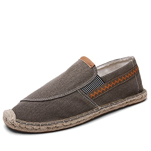 Uomo Rope Lino Sole Classics Canvas Espadrillas Alpargatas Marrone Casual Marrone qq6OT1r