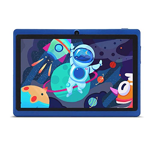 Haehne 7 Inches Tablet PC, Google Android 9.0 GMS, Quad Core 1GB+16GB, HD Display Screen, Dual Cameras, WiFi, Bluetooth…