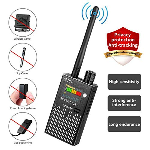 (Eilimy Anti-Spy Wireless RF Signal Detector [2019 Latest Upgrade]BUG GPS Hidden camera Signal Detector,for Hidden Camera GSM Eavesdropping Device GPS Radar Radio Scanner Wireless Signal Device Finder)