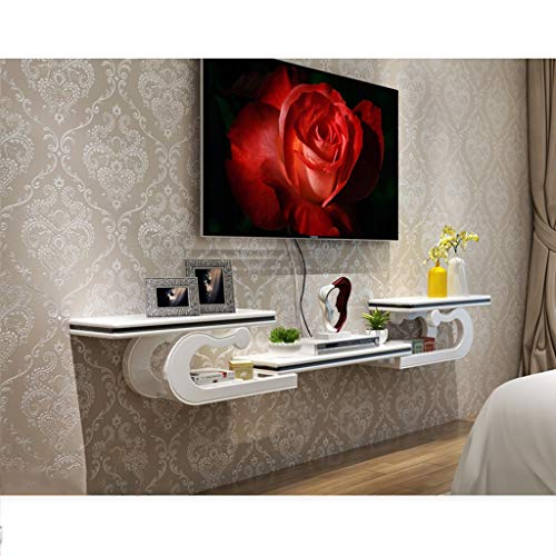 (Floating Shelf Wall Mounted Floating Audio/Video Console TV Cabinet Multimedia Console TV Shelf TV Stand Open Storage Shelves Component Shelf Living Room Furniture)