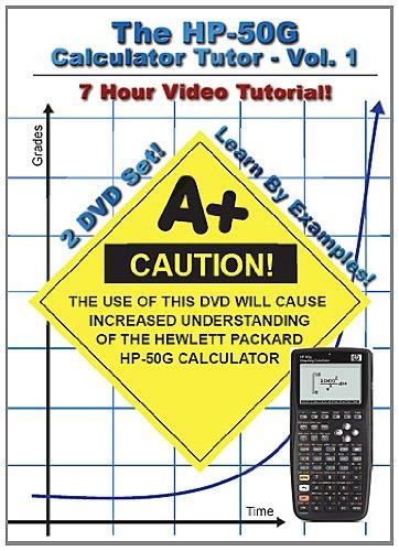 The HP 50g Calculator Tutor (Hewlett - Manual 50 Hp