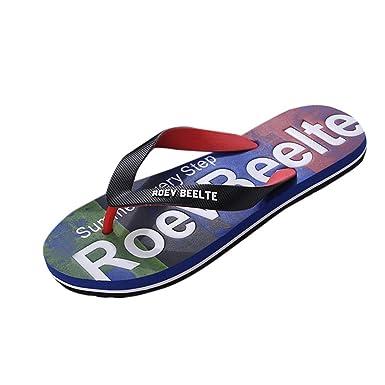 Flipflop Sandalias Piel,YiYLunneo Camuflaje De Verano para Hombres Chanclas Sandalias Antideslizantes Zapatilla Casual Zapatos De Playa Chancletas: ...