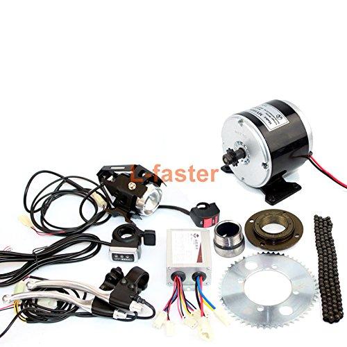 24v36v 350ワット小型電気モーターギアボックスなしスクーター25 25hチェーンドライブでチェーンホイールとフリーホイールアップグレード電気自転車 [並行輸入品] B07C1Y7WPV 36V thumb kit 36V thumb kit