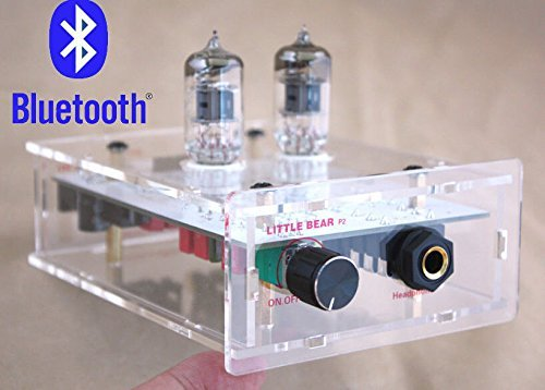 Nobsound® Audio Receiver Bluetooth Transparent Chassis valve 6J1 tube headphone amplifier HIFI AMP For Phone / PC / Sound system Nobsound