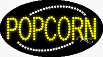 Popcorn LED Sign Made in USA 24 x 7 x 1 inches