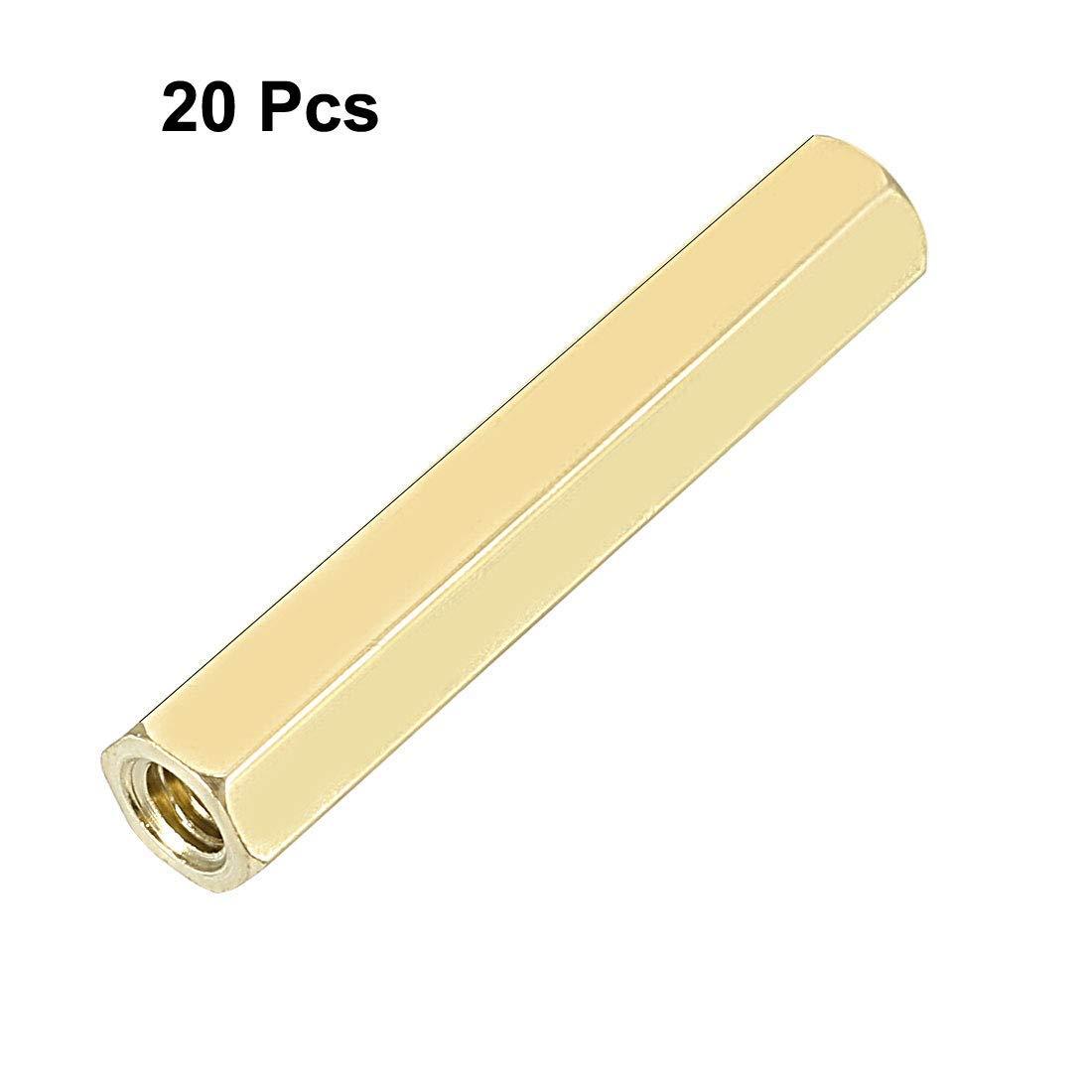 20pcs Brass Pillar Straight PCB Female Thread Hexagonal Separator Separator M3x5x27mm