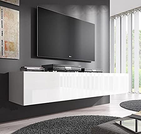 Muebles Bonitos Zoe XL TV Unit White 160 Centimetres Amazoncouk