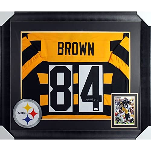d24f8bbca Steelers Antonio Brown Authentic Signed   Framed Bumble Bee Jersey JSA  Witness