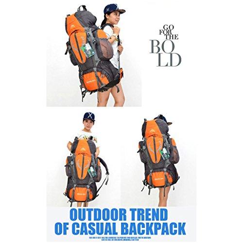 bolso de nylon impermeable hombres y mujeres alpinismo de soporte para bolsas de deportes al aire libre senderismo mochila de viaje naranja