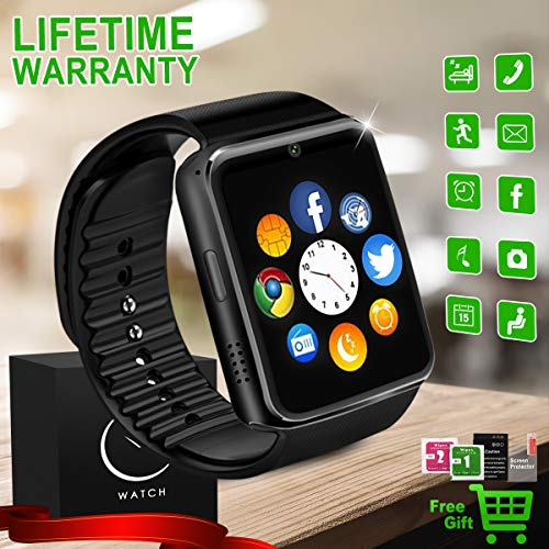 Free Pda Sim Phone (Bluetooth Smart Watch with Camera SIM TF Card Slot Sports Smartwatch Touch Screen Unlocked Cell Phone Watch Smart Wrist Watch Smart Watches for Android Smartphone Men Women Kids)