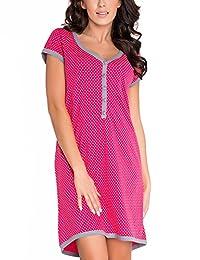 dn-nightwear TM.5038 comfortable maternity/nursing nightdress - made in EU