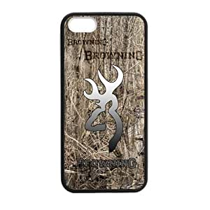 Canting_Good Real Tree Browning Cutter Logo Custom Case shin for iPhone 5,5S TPU (Laser Technology)