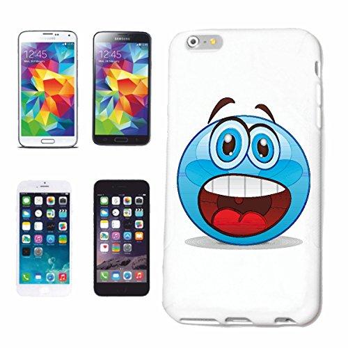 """cas de téléphone iPhone 6 """"SCARED SMILEY ouvre sa bouche """"sourire EMOTICON APP de SMILEYS SMILIES ANDROID IPHONE EMOTICONS IOS"""" Hard Case Cover Téléphone Covers Smart Cover pour Apple iPhone en blanc"""