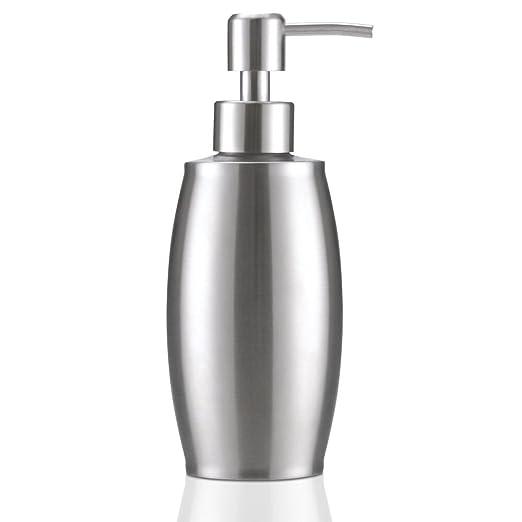 flintronic ® Dispensador de Jabón 350ml, Fregadero de Cocina Dispensador,Espacio Dosificador Jabon Cocina de Acero Inoxidable Botella