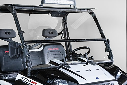 2009 Polaris Ranger Accessories - POLARIS RANGER FULL SIZE (2009 XP, 2010-2014) FULL-TILT WINDSHIELD (Does not fit 900 OR Mid Size). Best of both worlds Half when you want and Full when you need. Made in America