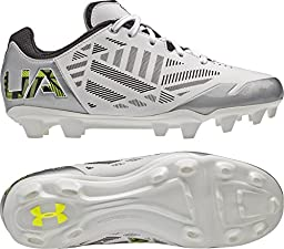 Women\'s Under Armour Finisher II MC Lacrosse Cleat White/Silver/High-Vis Yellow Size 9.5 M US