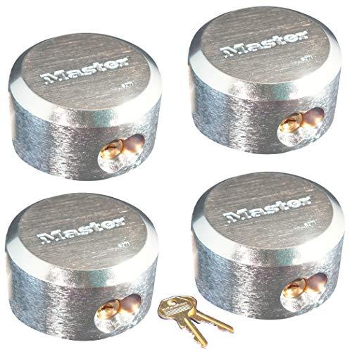 (Master Lock Pro Series Hidden Shackle Padlocks, Keyed Alike 6271NKA-4 w/BumpStop Technology)