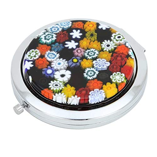 (GlassOfVenice Murano Glass Millefiori Folding Compact Mirror - Multicolor)