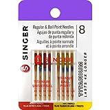 singer machine needles 11 80 - SINGER 4806 Titanium Universal Reg and Ball Point Machine Needles Combo Pack, 8-Pack