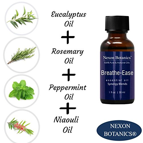Breathe Ease Essential Oil Synergy Blend - 100% Pure and Natural Therapeutic Grade Blends from Eucalyptus, Rosemary, Peppermint and Niaouli Oils - Best Aromatherapy Breathing from Nexon Botanics(30ml) by Nexon Botanics (Image #2)