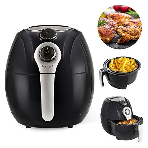 Simple Chef Air Fryer – Air Fryer For Healthy Oil Free Cooking – 3.5 Liter Capacity w/Dishwasher Safe Parts