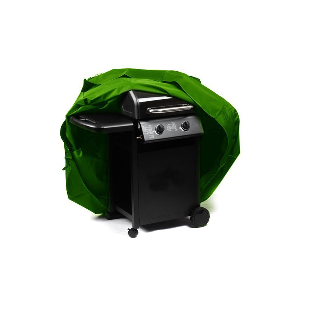 Hersent Heavey Duty Grill Cover Polyester Waterproof Windproof Dustproof BBQ Barbecue Cover For Indoor Outdoor Garden Patio HZC46 (M: 49'' L x 24'' W x 36H, Green)