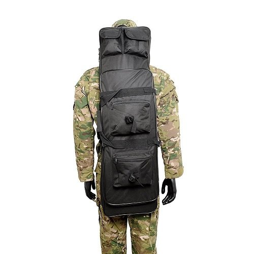 Tactical Double Rifle Case Waterproof Gun Storage Backpack Padded Shoulder Strap Pistol Cases Fishing Rode Backpack 48