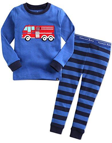 VAENAIT BABY 12M-7T Kids Boys Sleepwear Pajama 2pcs Set Fire Truck S