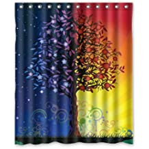 """Special Designed Love Christmas Tree A Tree With 2 Color Shower Curtains 60"""" X 72"""" Home Decor Bath Curtain Background Perfect as Christmas gift-03"""